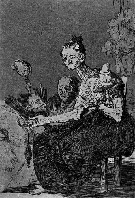 """Francisco Goya. """"Thin spun"""" (Series """"Caprichos"""", page 44)"""