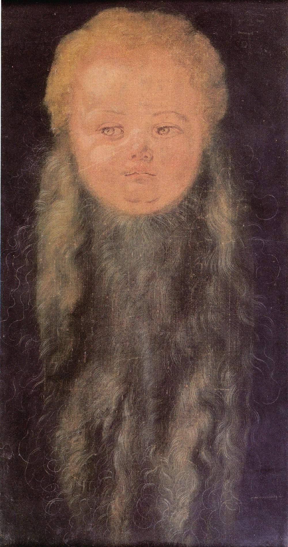 Albrecht Durer. Head of a bearded baby