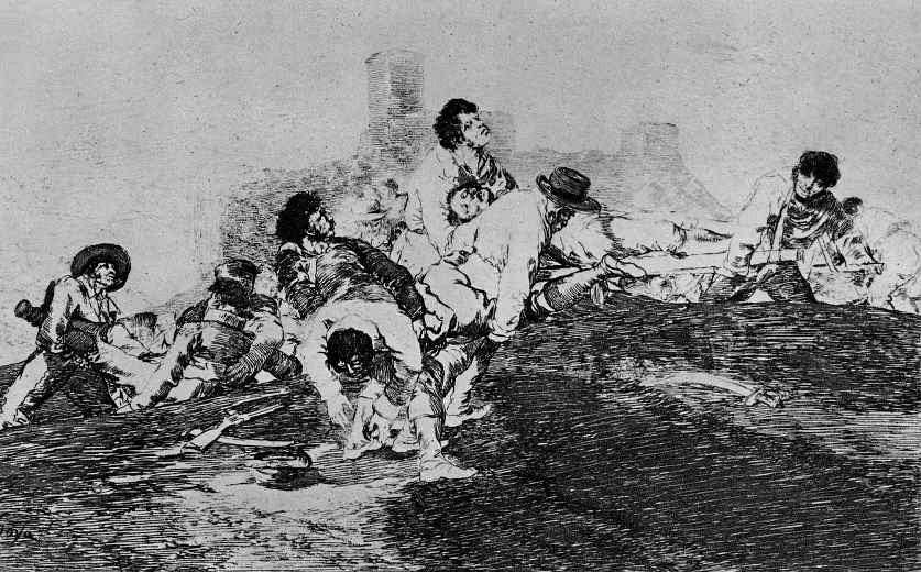"""Франсиско Гойя. Серия """"Бедствия войны"""", лист 24: Они ещё могут послужить"""