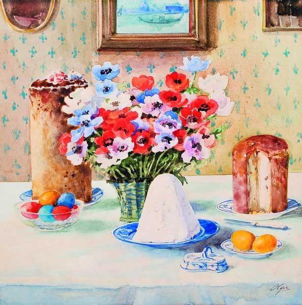 Olga Alexandrovna Romanova. Easter naturmort