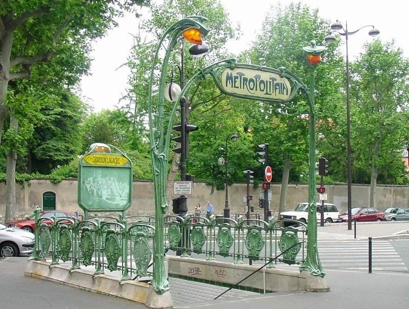"Hector Guimard. Entrance to the metro station ""Chardot Lagash"", Paris"