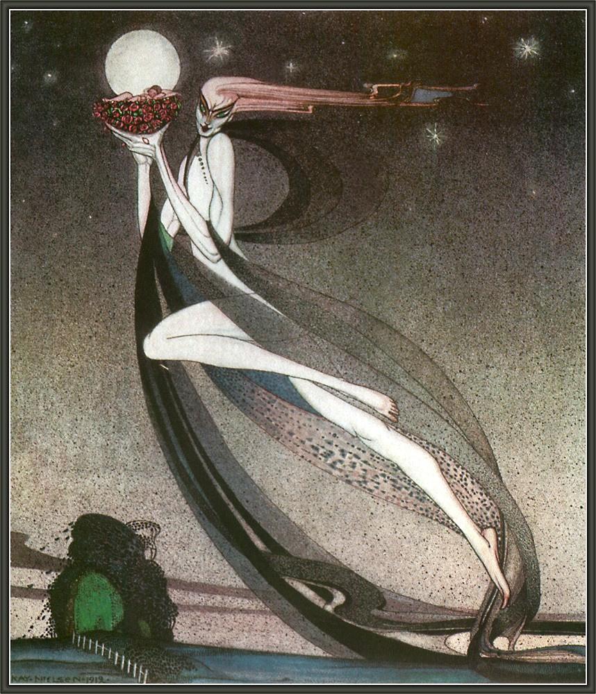 Кей Нильсен. Иллюстрации к книге Гранатовый домик