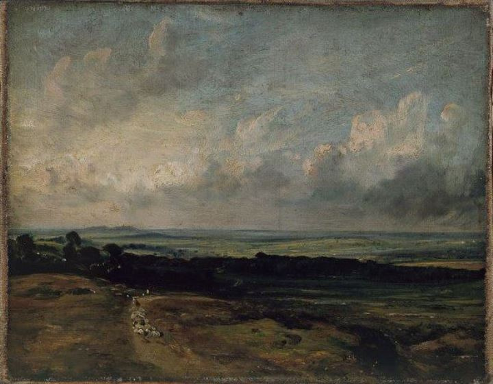 John Constable. Hampstead Heath, the view of the fields