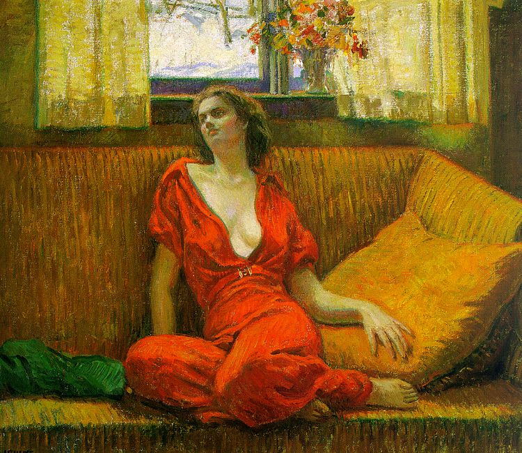 Wilson Irvine. The woman in the red dress