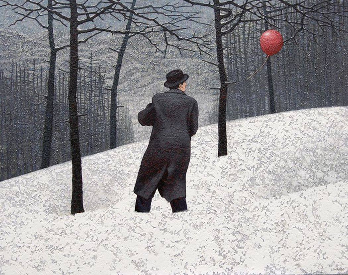 Марк Эдвардс. Man and red ball