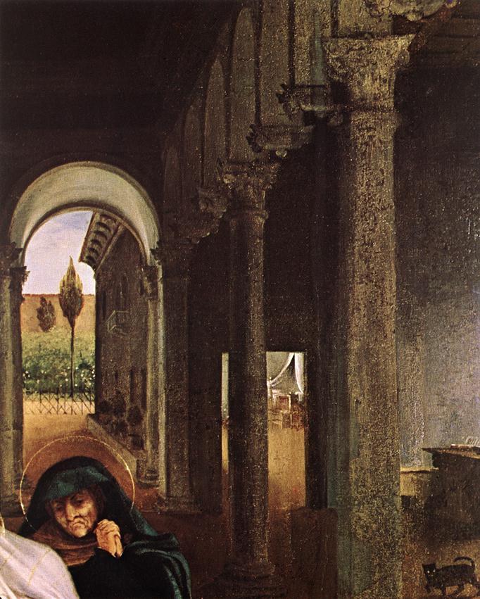 Лоренцо Лотто. Христос прощается с Матерью (фрагмент)