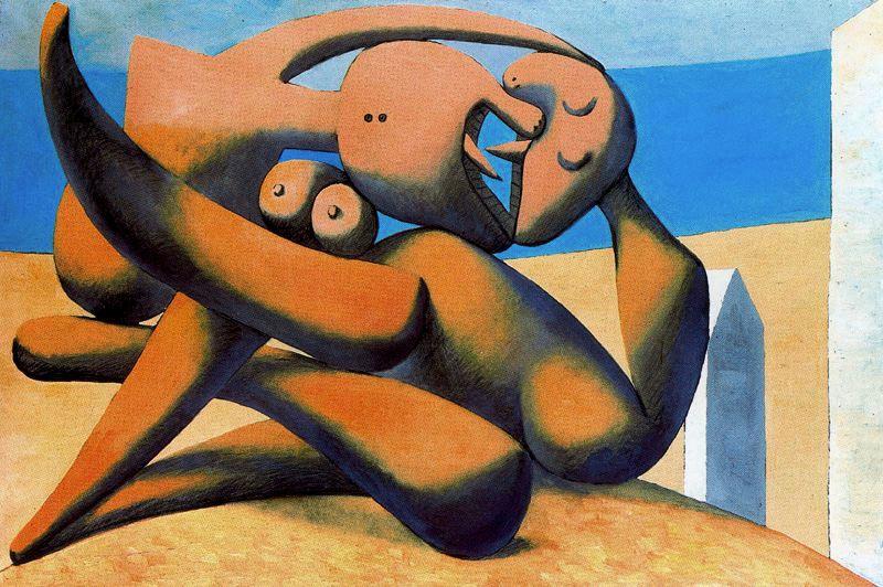Пабло Пикассо. Фигуры на берегу моря (Поцелуй)