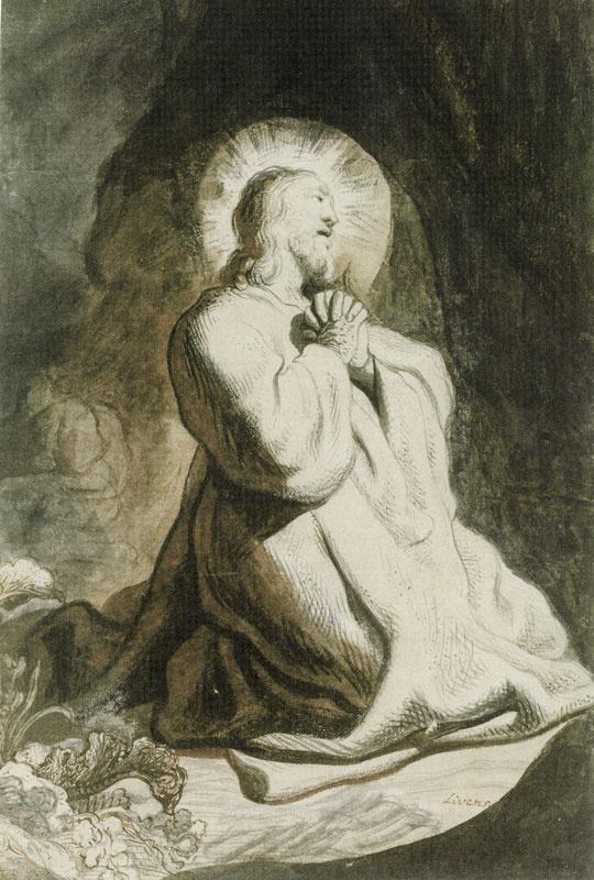 Ян Ливенс. Христос в Гефсиманском саду
