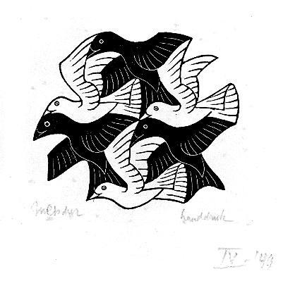 Мауриц Корнелис Эшер. Птицы3