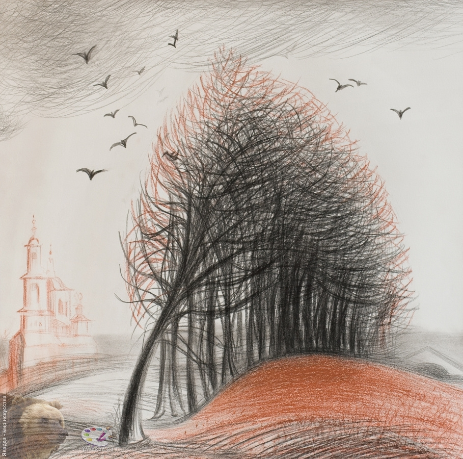 "Marga Alexandrovna Silkina. Marga Silkina. ""Near Moscow. Defoliation"". 2009."