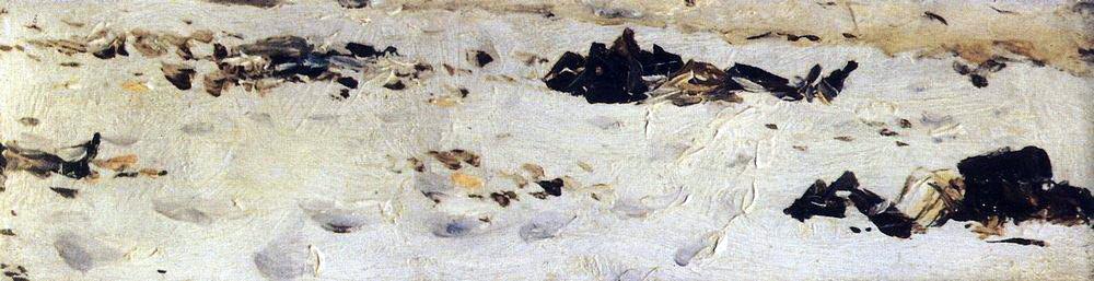 Василий Васильевич Верещагин. Трупы замерзших турецких солдат