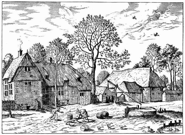 Питер Брейгель Старший. Серия Малые пейзажи, пейзаж №5