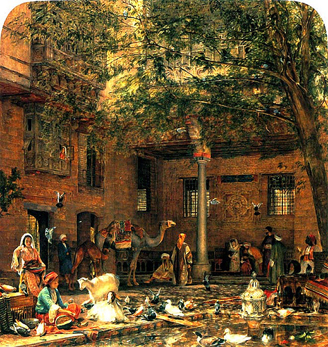 John Frederick Lewis. The courtyard of the Coptic Patriarch in Cairo