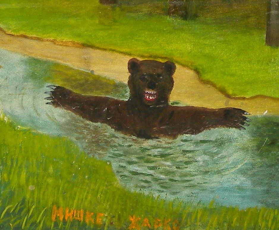 Alexander Vasilyevich Suvorov. Bear is hot