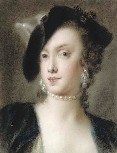 Rosalba Carriera (Carrera). Portrait of Catherine Barbarigo