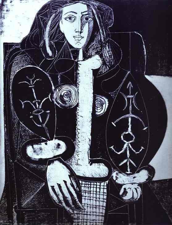 Пабло Пикассо. Женщина в кресле (Польское манто)