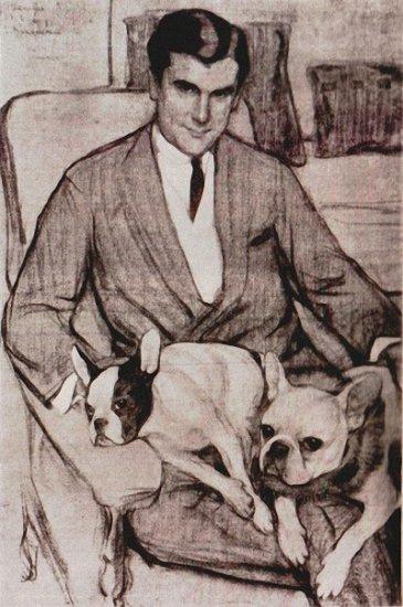 Elena Kiseleva. Portrait Of N.. Black