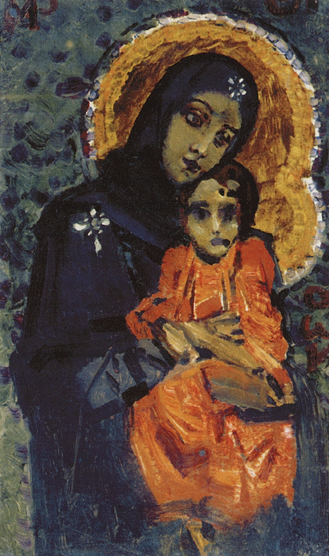 Mikhail Vrubel. The virgin with the Baby