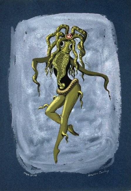 "Доротея Таннинг. Монстр. Дизайн костюма для балета Джона Кранко ""Ведьма"""