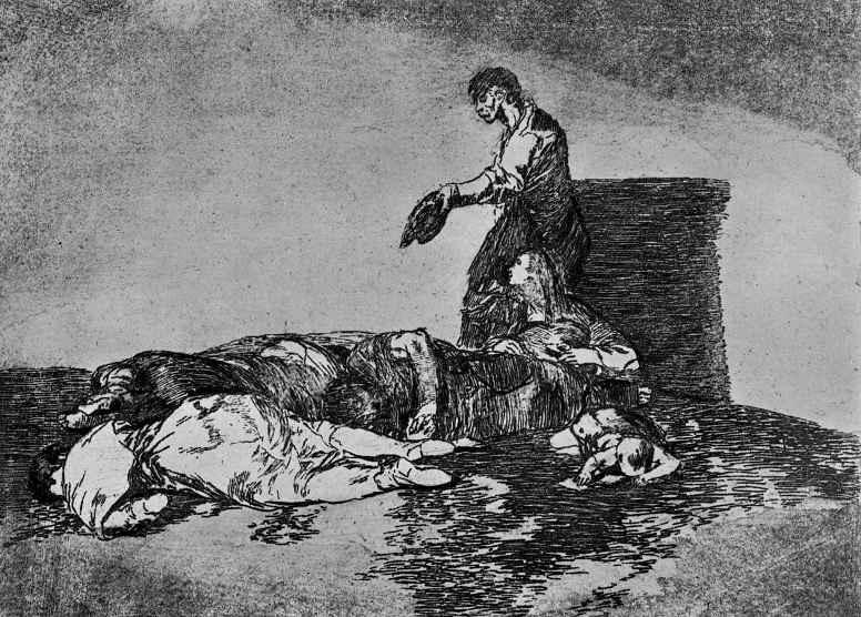 """Франсиско Гойя. Серия """"Бедствия войны"""", лист 48: Все слишком плохо!"""
