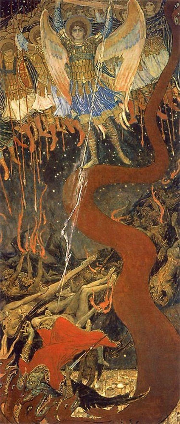 Victor Mikhailovich Vasnetsov. Archangel Michael plunges a devil