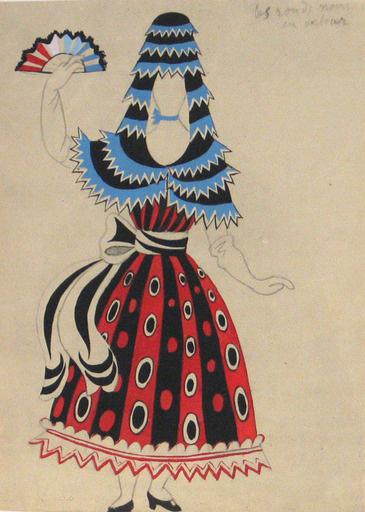 Pablo Picasso. Costume design for the ballet Tricorne