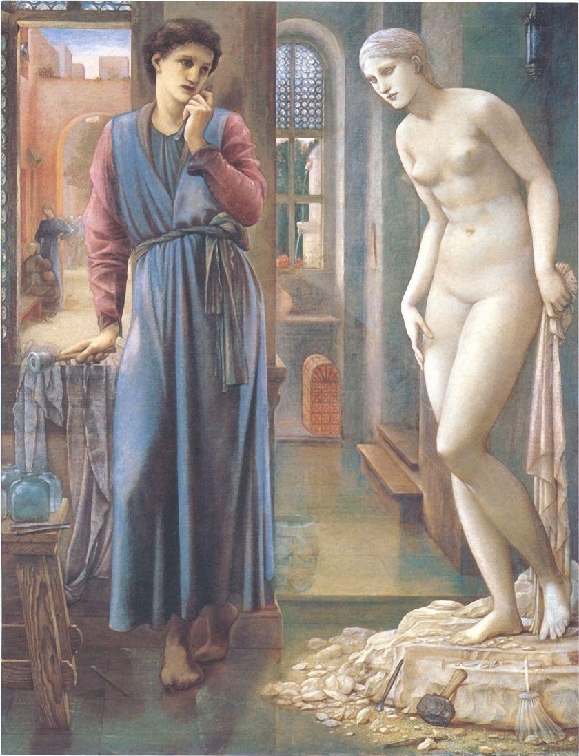 Edward Coley Burne-Jones. Pygmalion and Galatea II: The hand does not dare