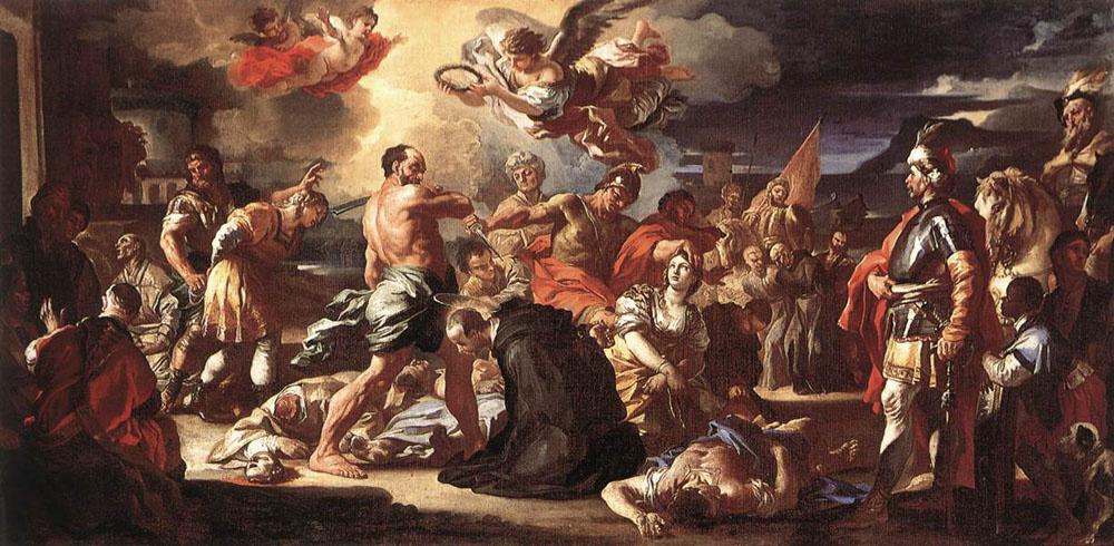 Франческо Солимена. Мученичество Св. Плакиды и Флавия