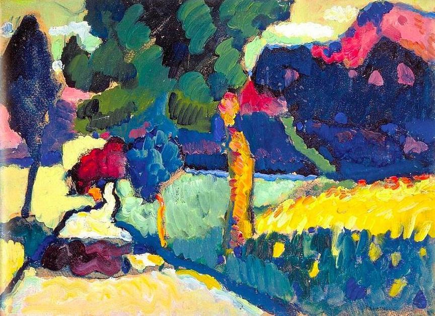 Wassily Kandinsky. Murnau. Summer Landscape