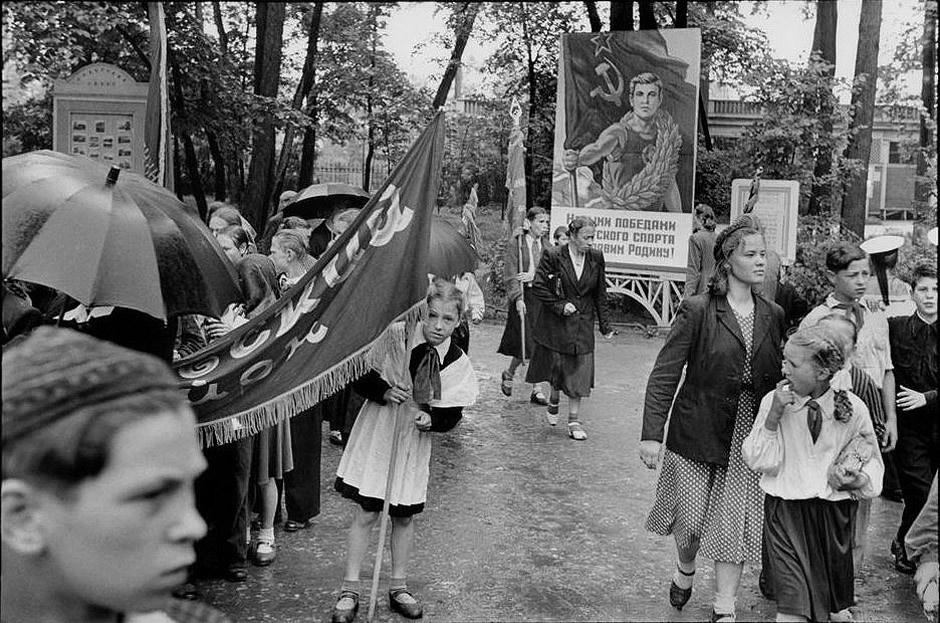 Historical photos. Leningrad. May 1, 1955