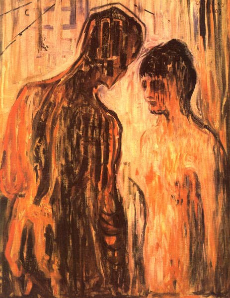Edvard Munch. Cupid and Psyche