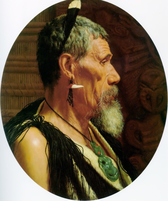 Чарльз Голди. Профиль мужчины с бородой