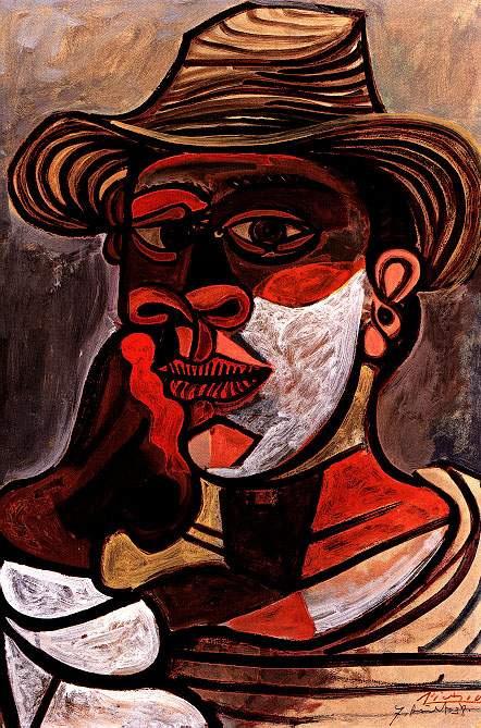 Пабло Пикассо. Человек в красной перчатке