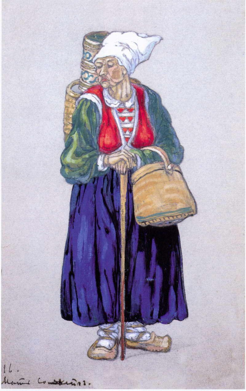 """Nicholas Roerich. Mother Solveig. Sketch for the play """"peer Gynt"""" by H. Ibsen"""