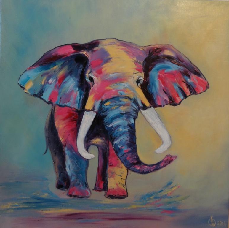 Victoria Fedorovna Humanenko. Happy baby elephant