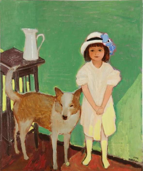 Анатолий Александрович Любавин. Girl with a dog