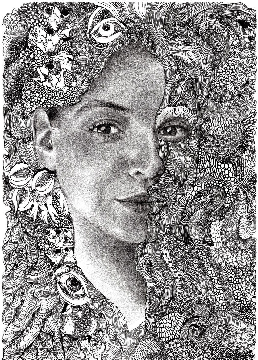 Ekaterina Nesterets. Self-portrait