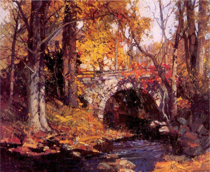 Фредерик Мулхаупт. Осенний пейзаж