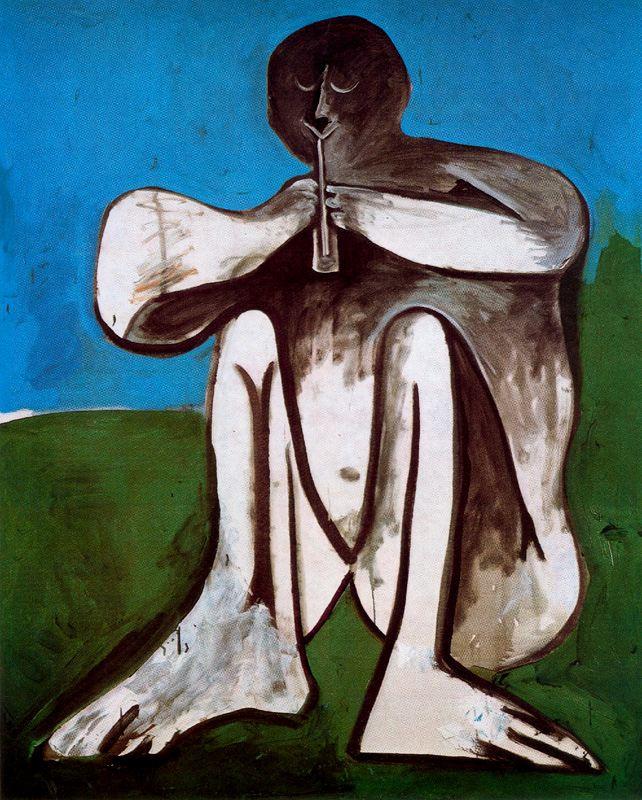 Пабло Пикассо. Флейтист