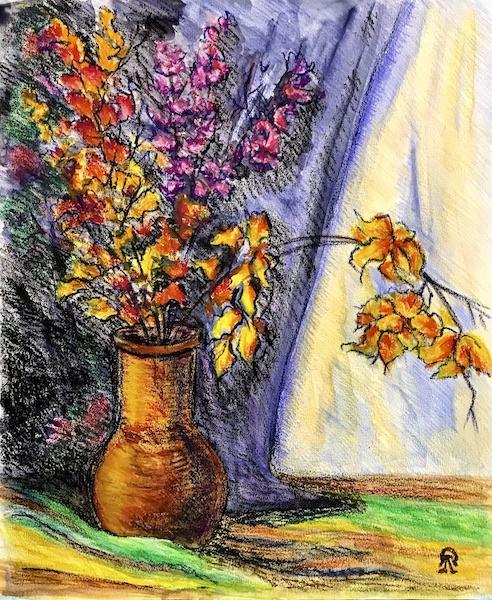 Larissa Lukaneva. Study with autumn leaves