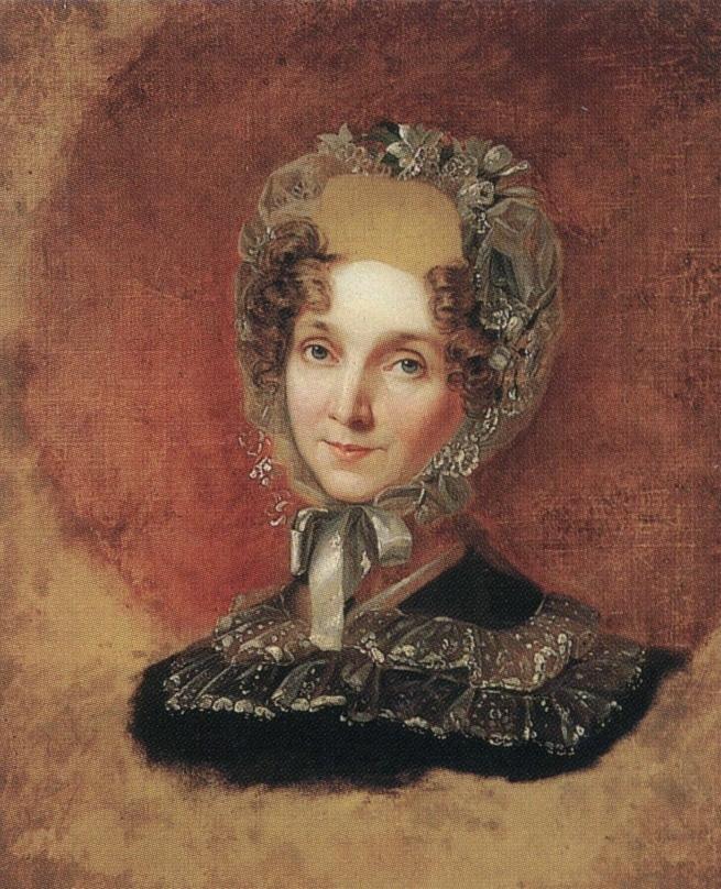 George Dow. Portrait of Empress Elizabeth Alekseevny in a tulle cap