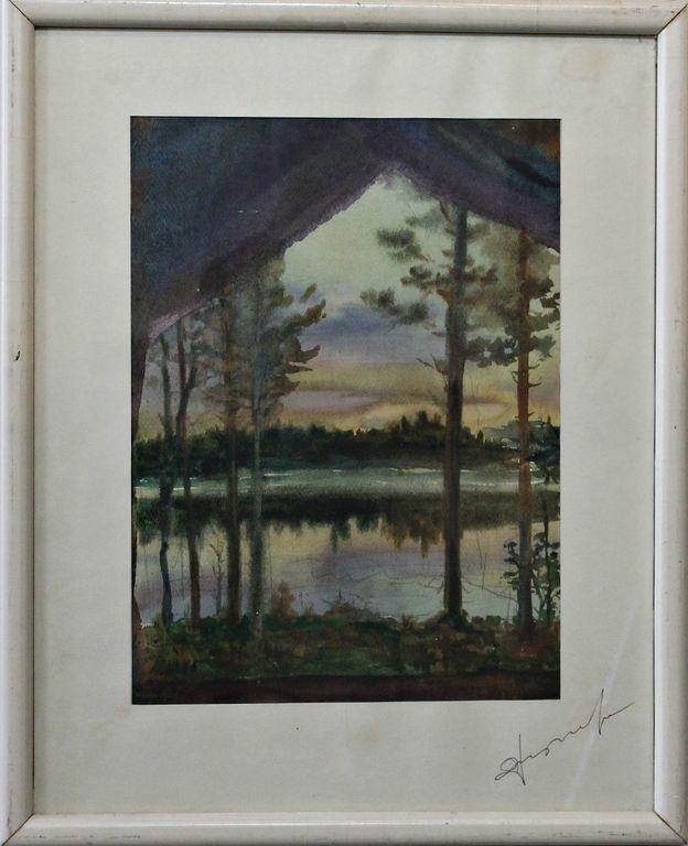 Yuri Mikhailovich Uzulnik. Evening on the river. Mologa