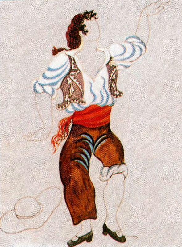 "Пабло Пикассо. Эскиз костюма для балета ""Треуголка"""