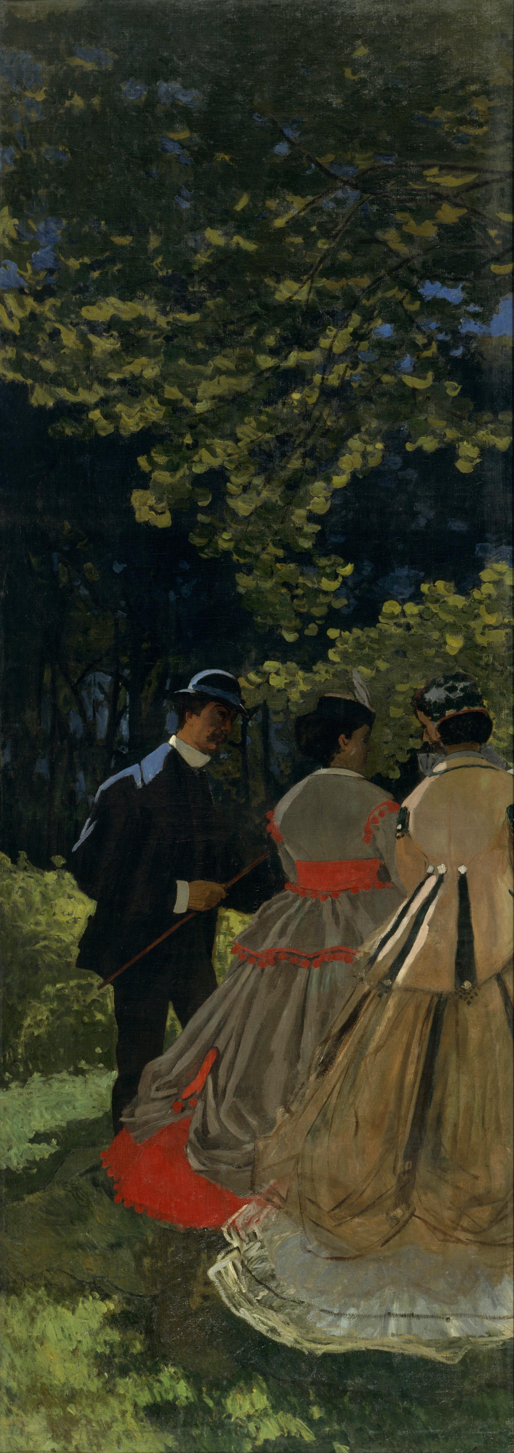 Claude Monet. Breakfast on the grass, fragment