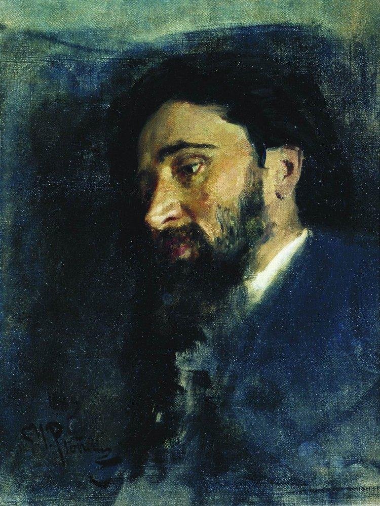 Ilya Efimovich Repin. Portrait of writer V. M. Garshin