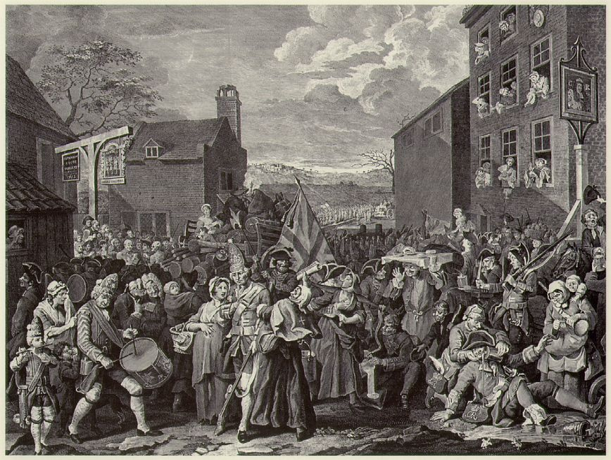 William Hogarth. From March to Finchley