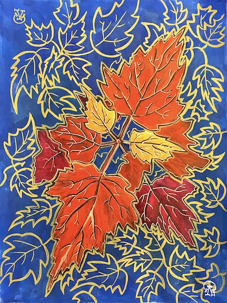 Larissa Lukaneva. Maple branch