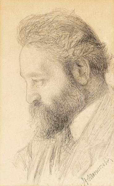 Вильгельм Хаммерсхёй. Портрет бородатого мужчины