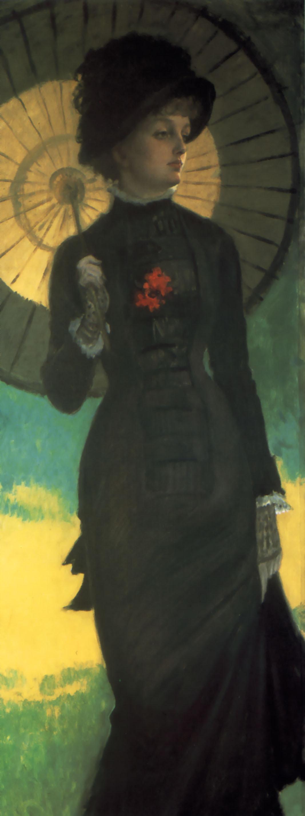 James Tissot. Mrs Newton with a parasol