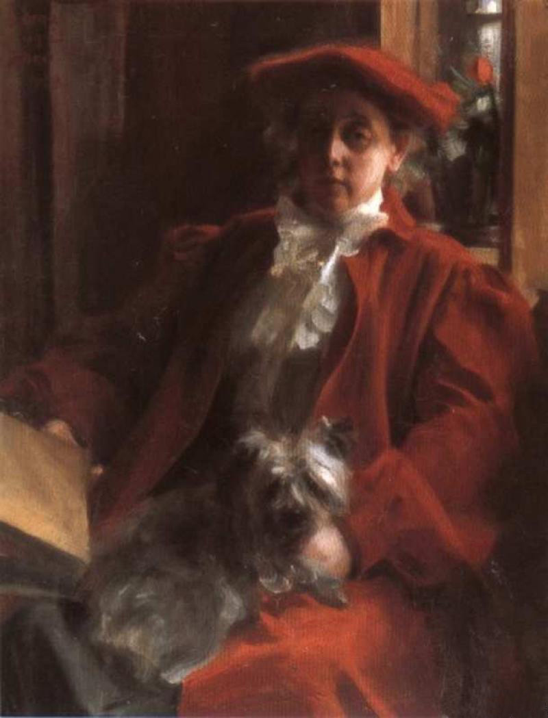 Anders Zorn. Emma and the dog mush